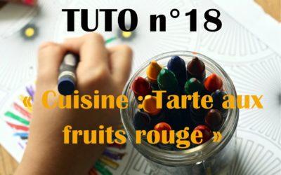 Tuto n°18: Atelier cuisine: Tarte aux fruits rouges