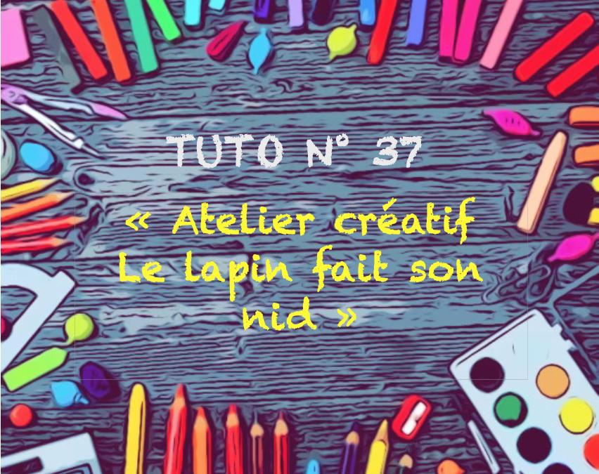 "Tuto n° 37 : ""Atelier créatif : Le lapin fait son nid"""